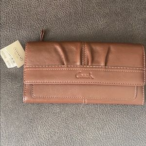 Brown coach leather wallet